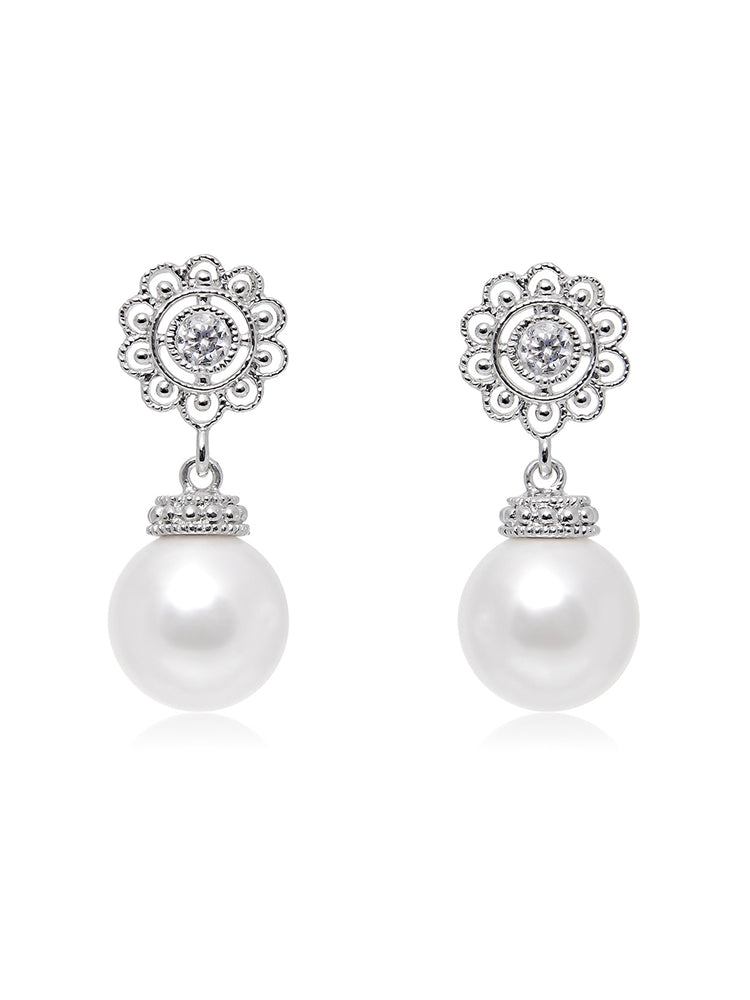 Classic Victorian Pearl Earrings