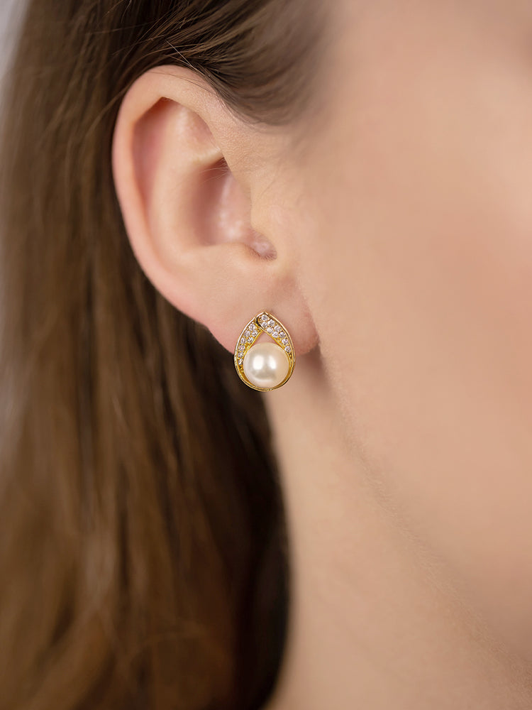 Astra Gold Earrings | Stud