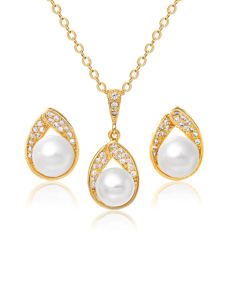 Astra Gold Jewelry Set | Stud