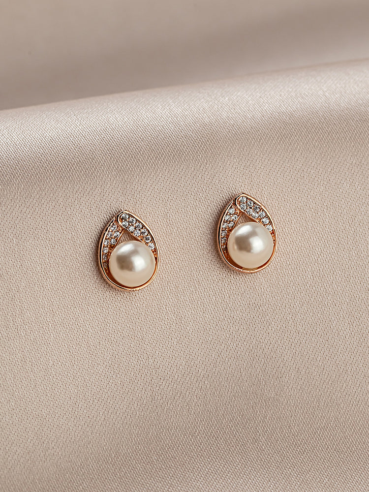 Astra Rose Gold Stud Earrings