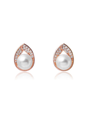 Astra Rose Gold Earrings | Stud