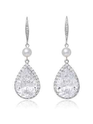 Load image into Gallery viewer, Vesta Pearl Earrings