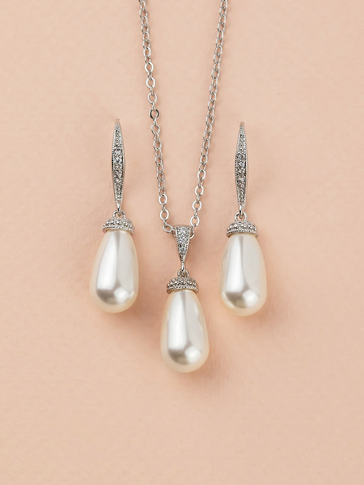 Classic Teardrop Jewelry Set (Bridesmaid)