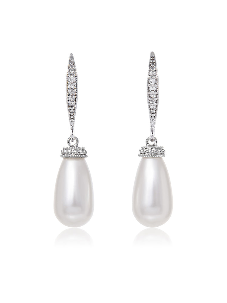 Classic Teardrop Pearl Earrings