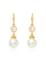 Classic Gold Pearl Earrings | Medium