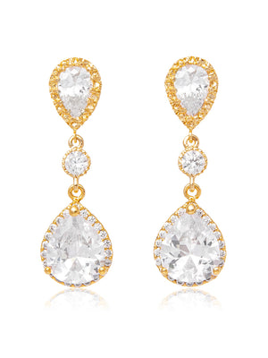 Load image into Gallery viewer, Vela Gold Earrings