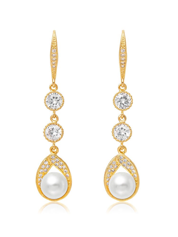 Load image into Gallery viewer, Astra Gold Earrings | Long