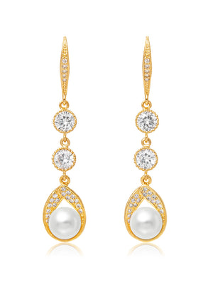Astra Gold Earrings | Long
