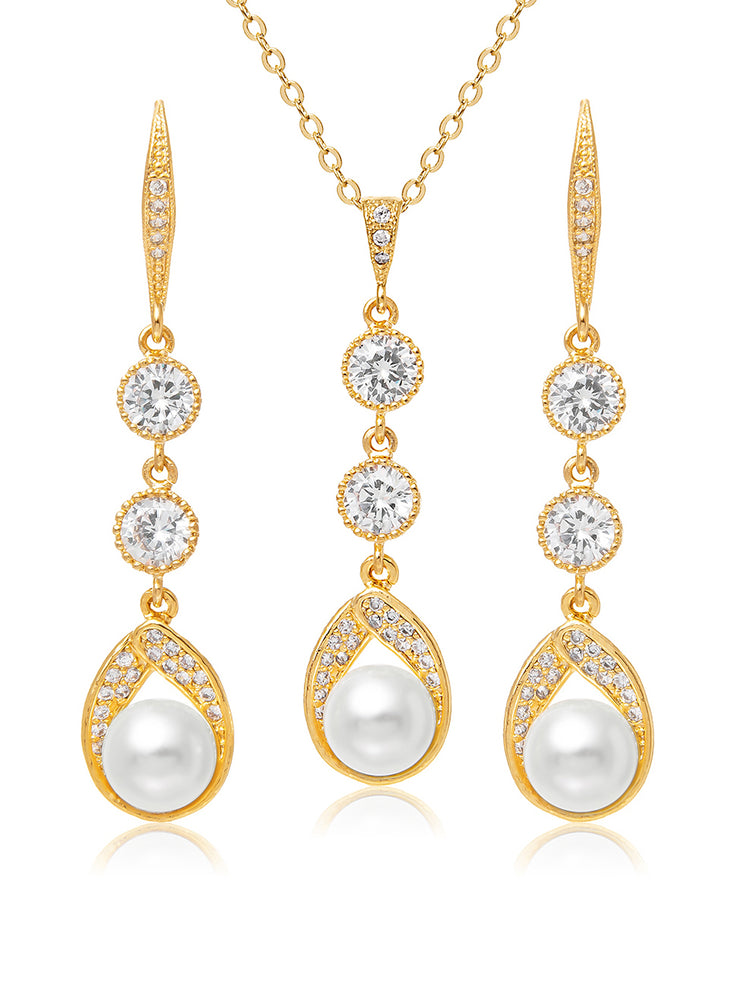 Astra Gold Jewelry Set | Long
