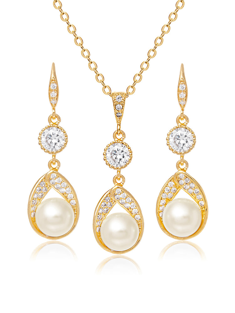 Load image into Gallery viewer, Astra Gold Jewelry Set | Medium