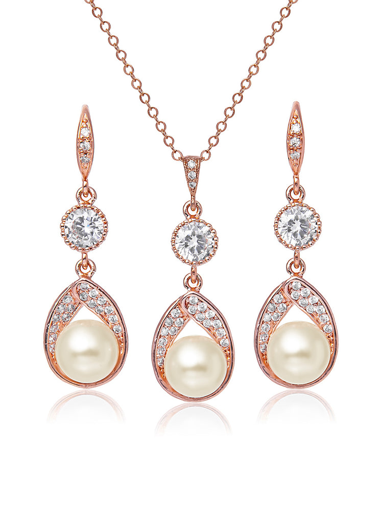 Load image into Gallery viewer, Astra Rose Gold Jewelry Set | Medium