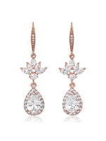 Eliana Rose Gold Cubic Zirconia Earrings