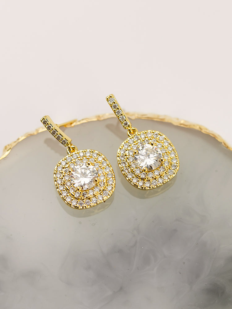 Load image into Gallery viewer, Sophie Gold Earrings (Bridesmaid)