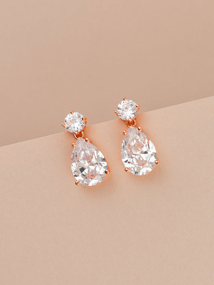 Load image into Gallery viewer, Madeline Rose Gold Earrings
