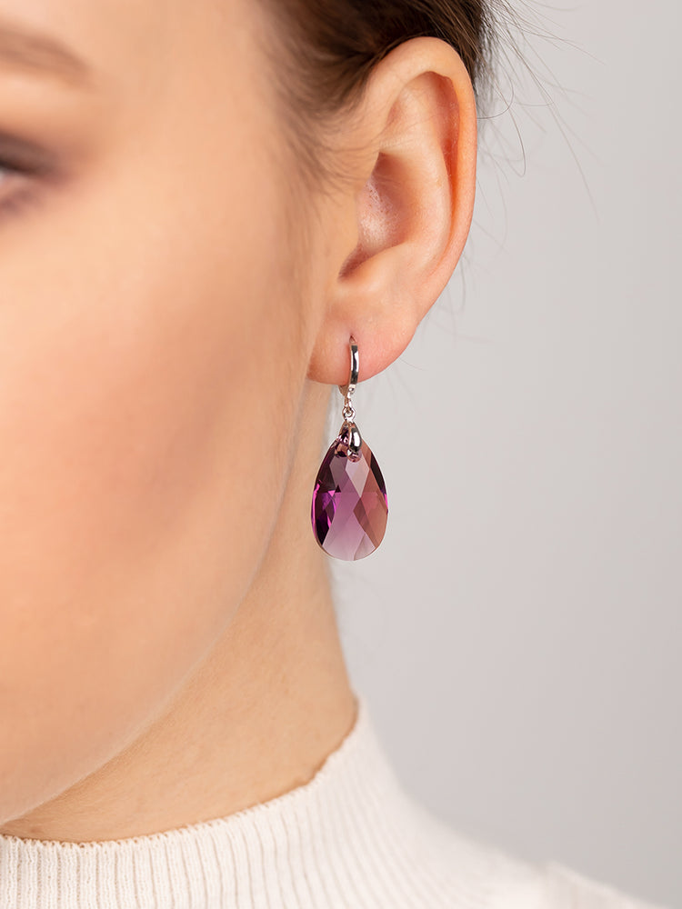 Olivia Earrings | Amethyst