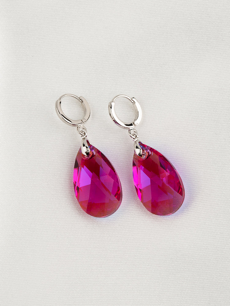 Load image into Gallery viewer, Olivia Earrings | Fuchsia Glacier