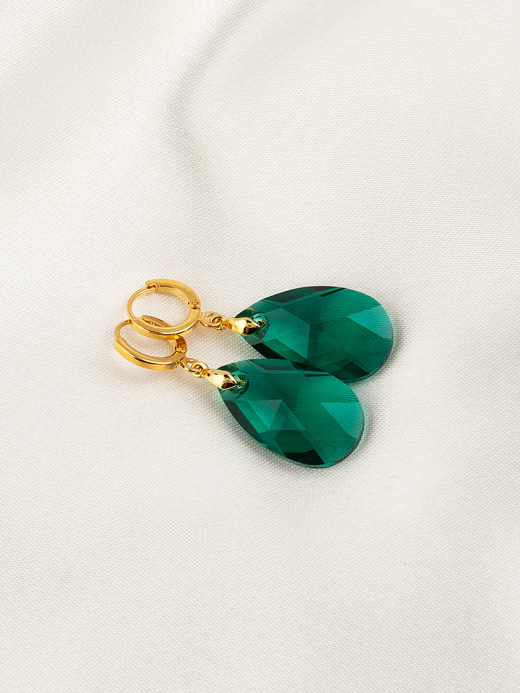 Olivia Earrings | Emerald