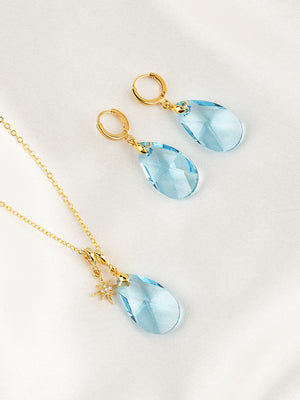 Load image into Gallery viewer, Olivia Jewelry Set | Aquamarine