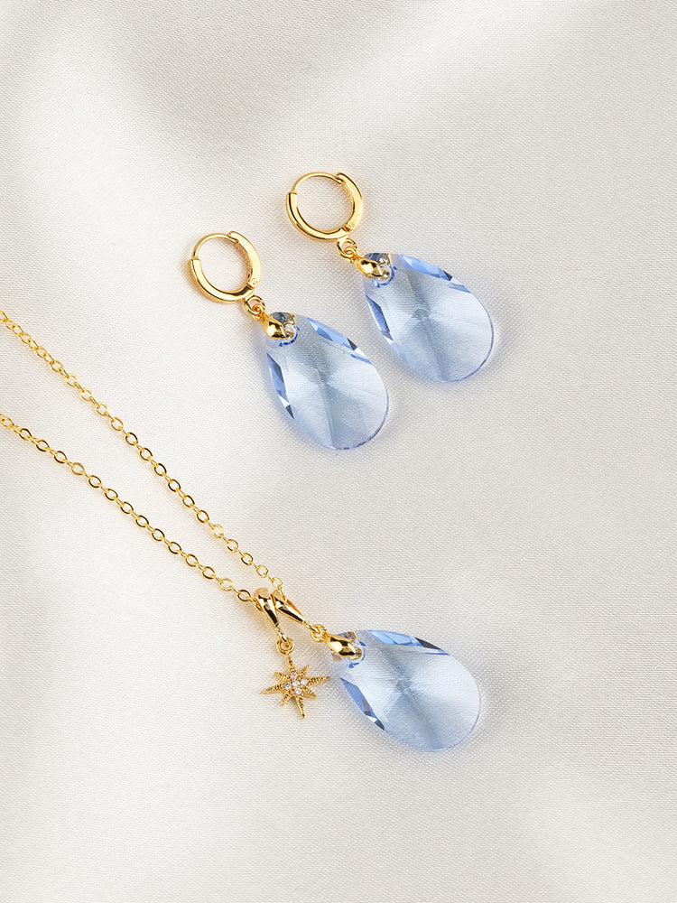 Olivia Jewelry Set | Light Sapphire