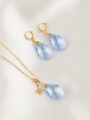 Load image into Gallery viewer, Olivia Jewelry Set | Light Sapphire
