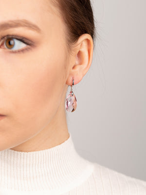 Olivia Earrings | Light Rose