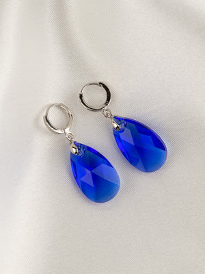 Load image into Gallery viewer, Olivia Earrings | Majestic Blue