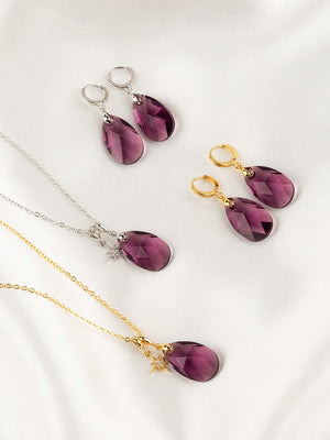 Load image into Gallery viewer, Olivia Jewelry Set | Amethyst