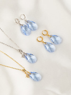 Olivia Necklace Set | Light Sapphire
