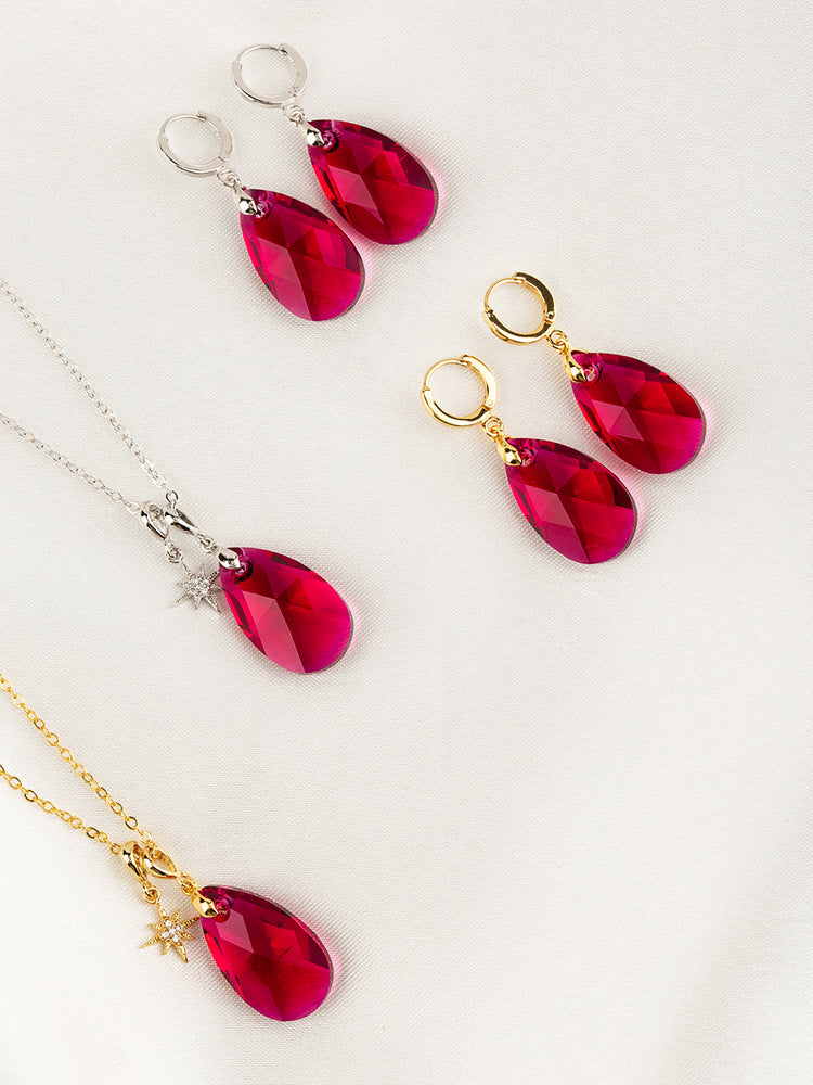 Load image into Gallery viewer, Olivia Necklace Set | Scarlet