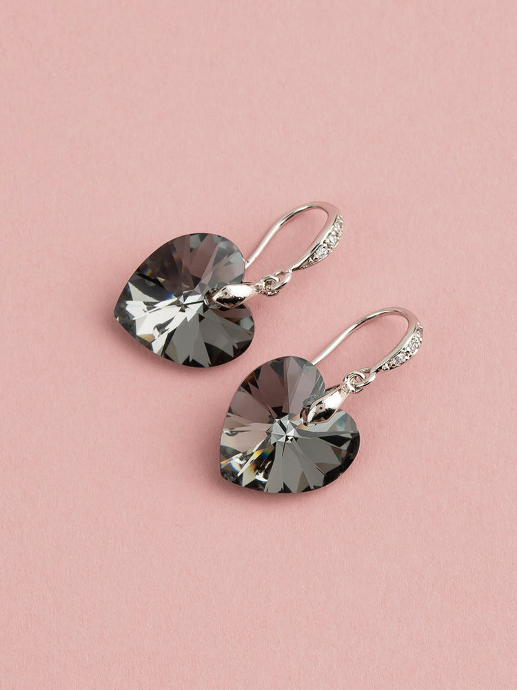 Amour Earrings | Silver Night