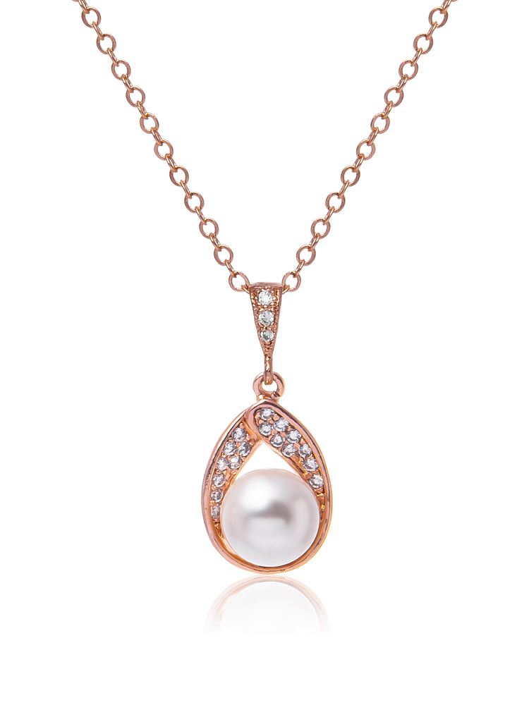 Astra Rose Gold Pendant | Short