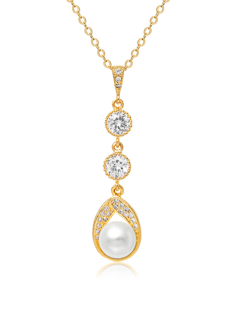 Astra Gold Pendant | Long