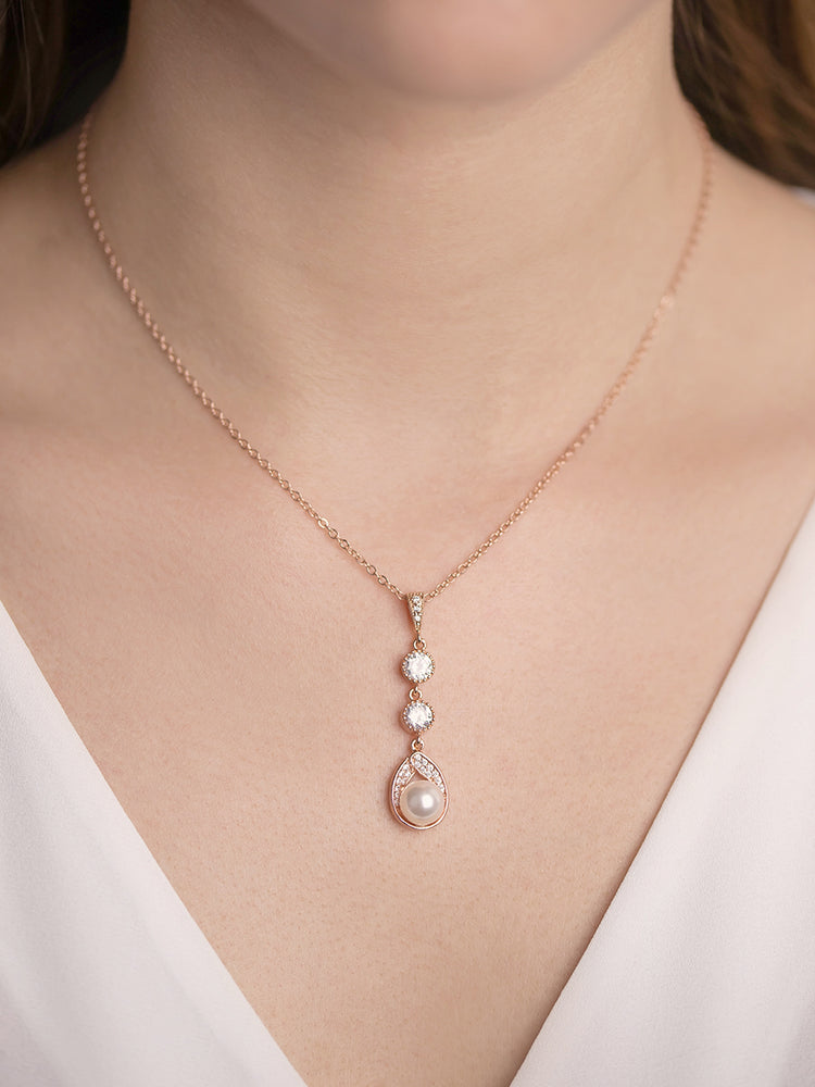 Astra Rose Gold Pendant | Long