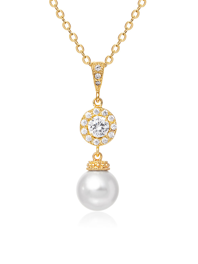 Camille Pearl Gold Pendant