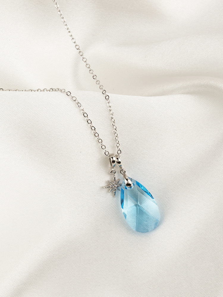 Olivia Necklace Set | Aquamarine
