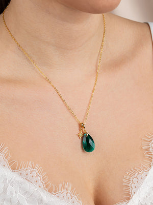 Load image into Gallery viewer, Olivia Necklace Set | Emerald