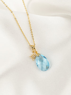 Load image into Gallery viewer, Olivia Necklace Set | Aquamarine