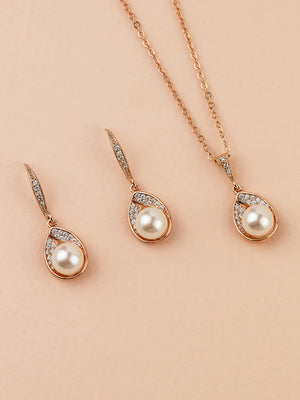 Astra Rose Gold Jewelry Set | Short