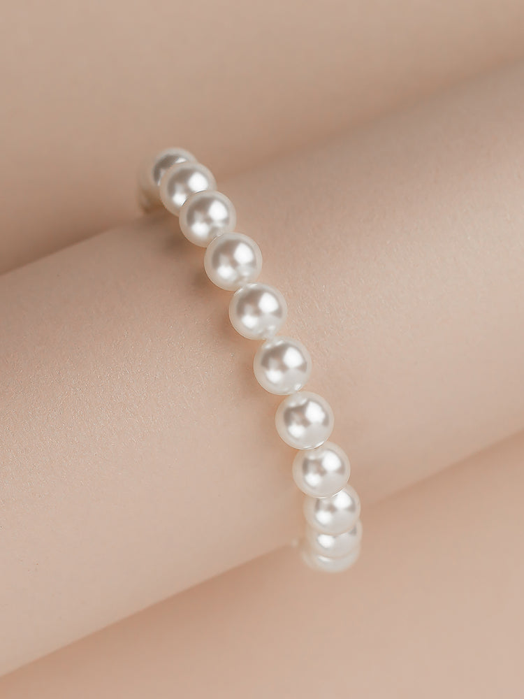 Classic Rose Gold Pearl Bracelet