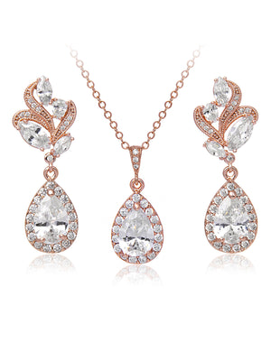Nessa Rose Gold Jewelry Set