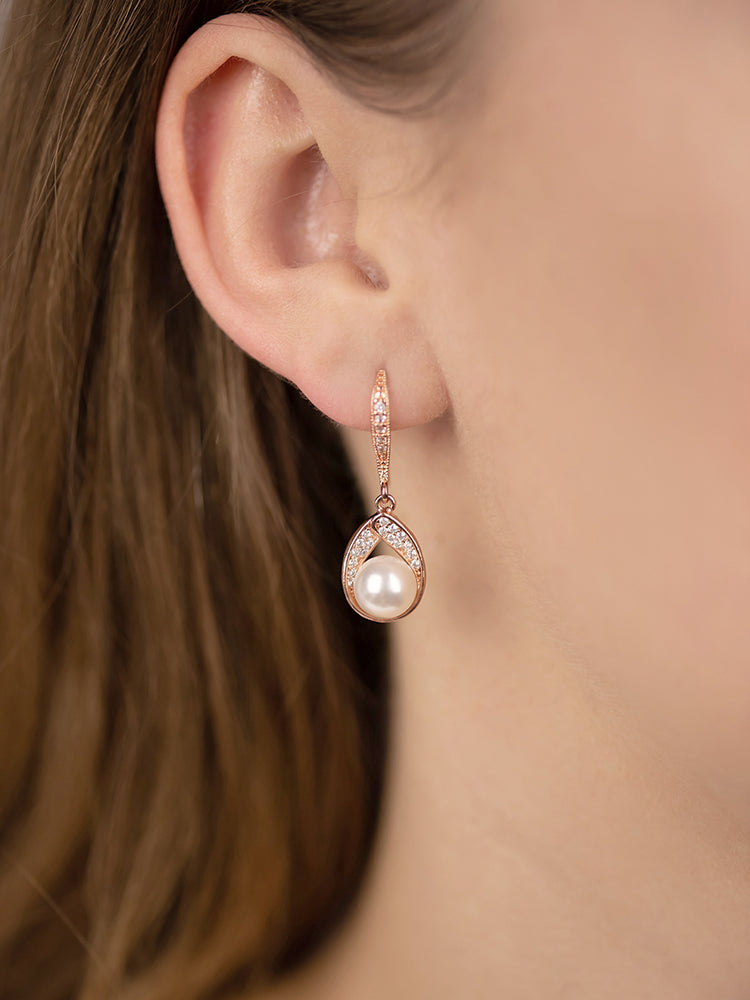 Load image into Gallery viewer, Astra Rose Gold Earrings