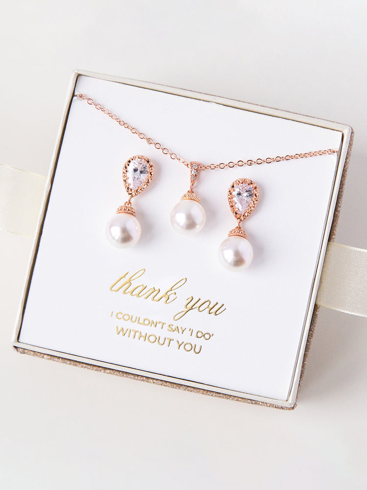 Belle Rose Gold Jewelry Set