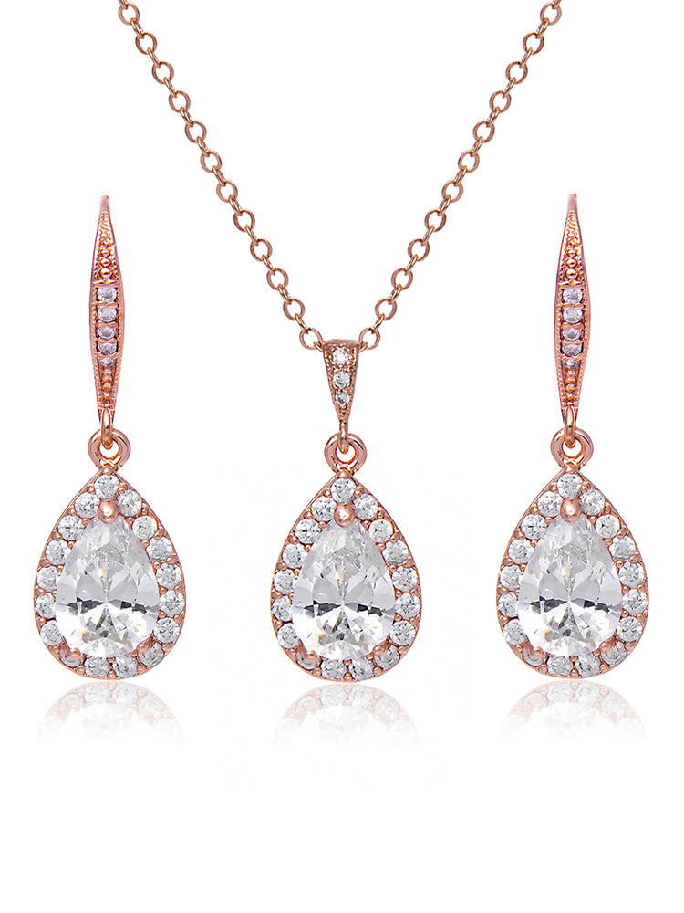 Victoria Rose Gold Jewelry Set