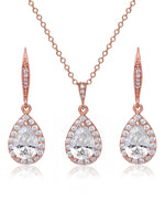 Delicate Rose Gold Jewelry Set