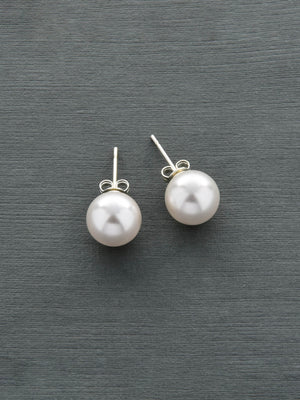 Load image into Gallery viewer, Classic Stud Pearl Earrings