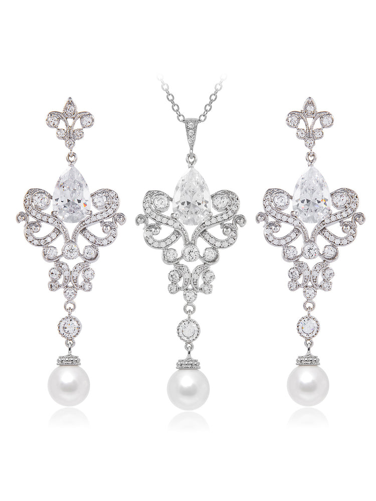 Isolde Pearl Jewelry Set
