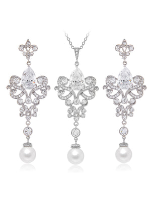 Load image into Gallery viewer, Isolde Pearl Jewelry Set