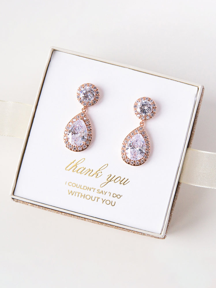 Diana Rose Gold Earrings