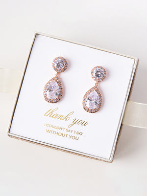 Load image into Gallery viewer, Diana Rose Gold Earrings