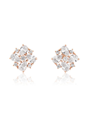 Azalea Rose Gold Earrings